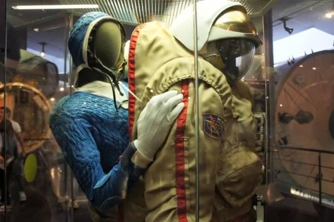 Inside a spacesuit Cosmonautics Museum Moscow