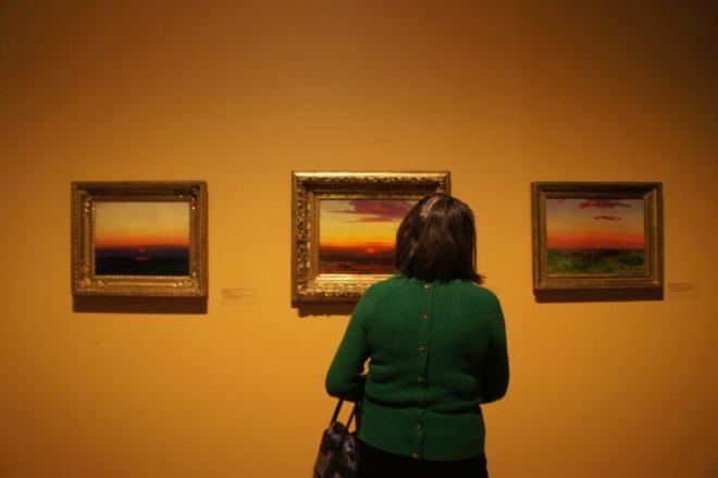 Sunset paintings Arkhip Kuindzhi