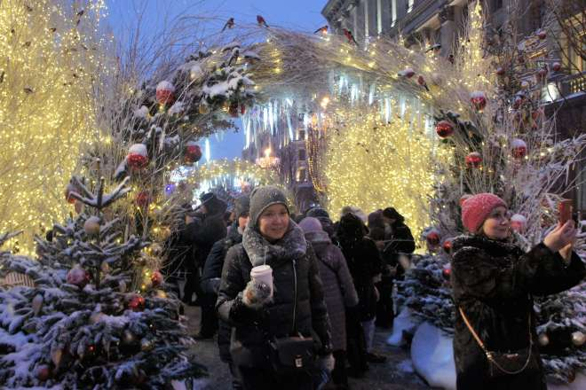 Grotto on Tverskaya Street for the Moscow Journey into Christmas Festival