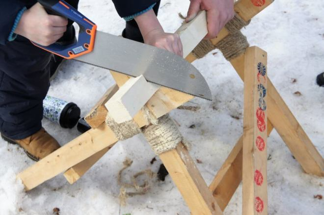 Wood sawing competition