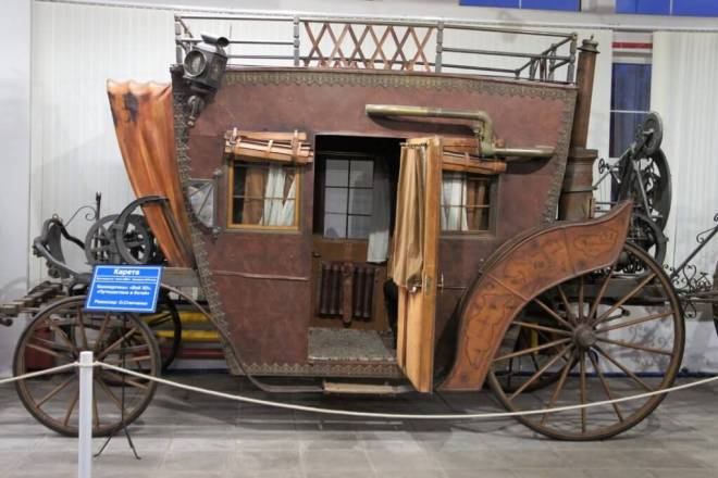 A steampunk style carriage from the film Viy 2 Journey to China