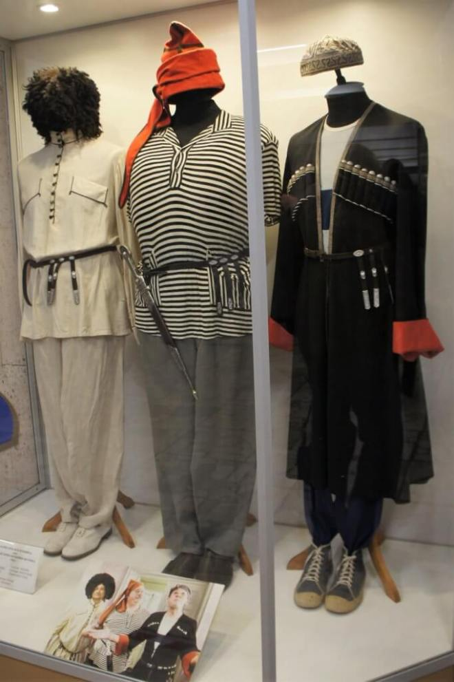 Costumes in a sort of Cossack style from a famous Russian film