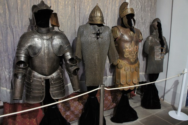 Costumes of different types of armour at MosFilm Studio