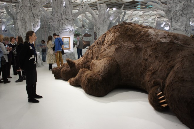 Bear at the Russian Fairy Tale exhibition Tretyakov Gallery