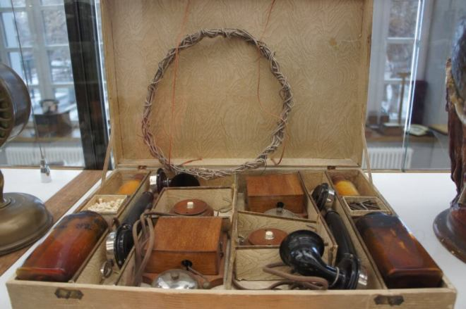 A box with bits of an old fashioned telephone in that you were supposed to assemble yourself.