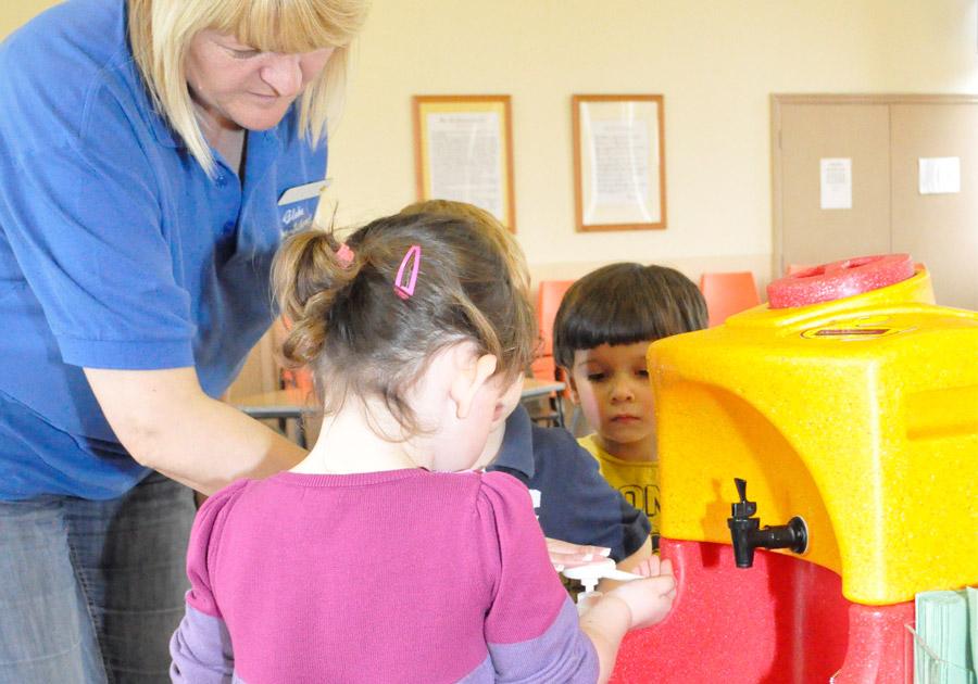 Hand Washing Hall of Fame welcomes Burton Pre-School