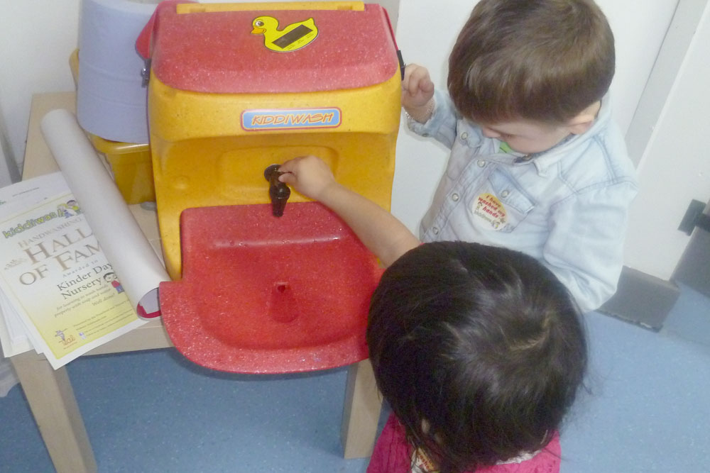 "Hand washing helps children ""beat the bad bugs"""