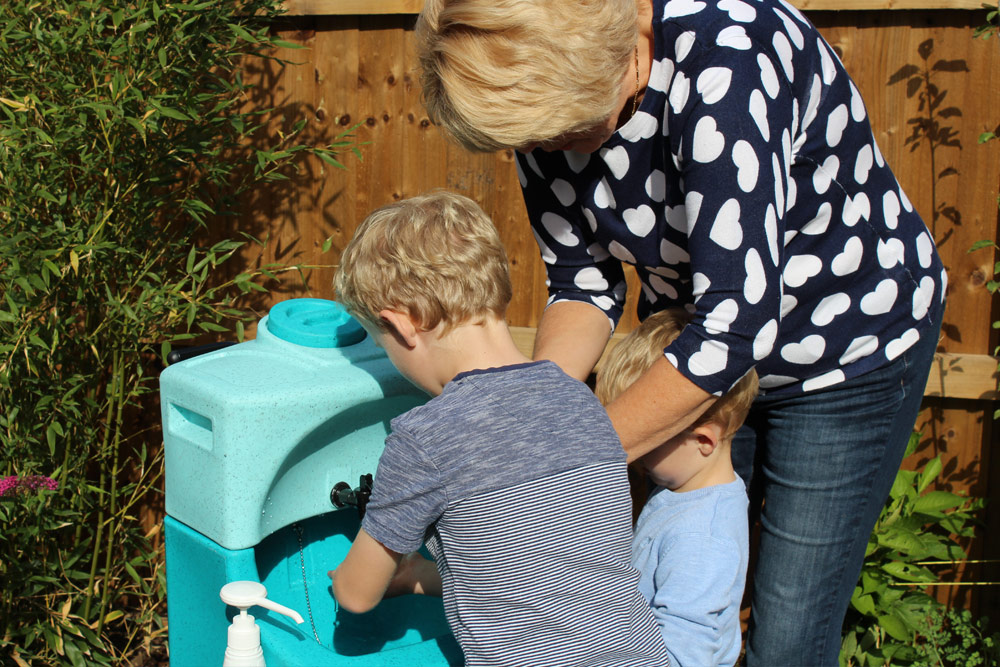 Teaching hand washing to preschool children with TEAL portable units