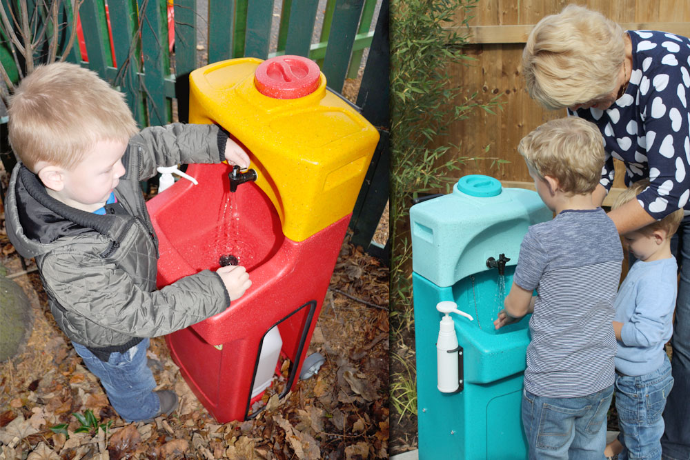 KiddiSynk portable hand washing for children