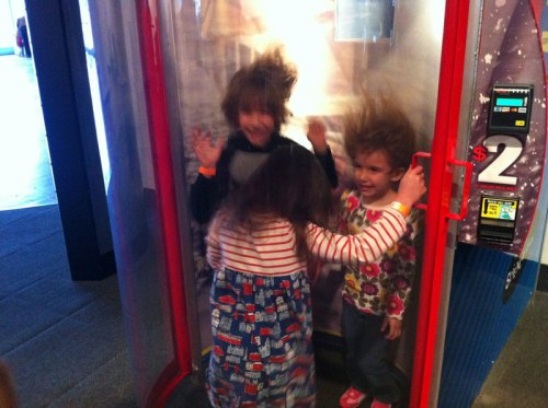 Wild winds in the hurricane simulator