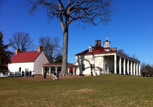 George Washington's mansion on the historic Mount Vernon Estate