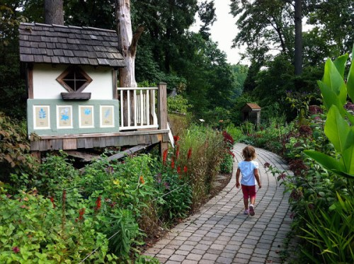 Strolling through the Children's Garden at Brookside