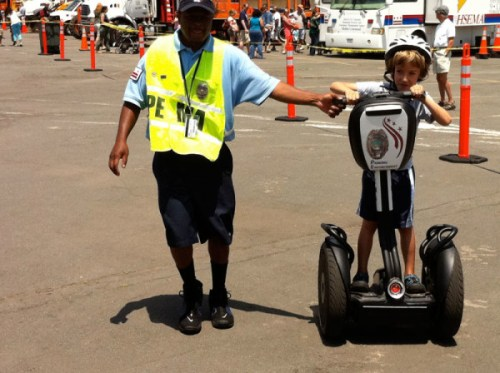 Kid on Segway - watch out!