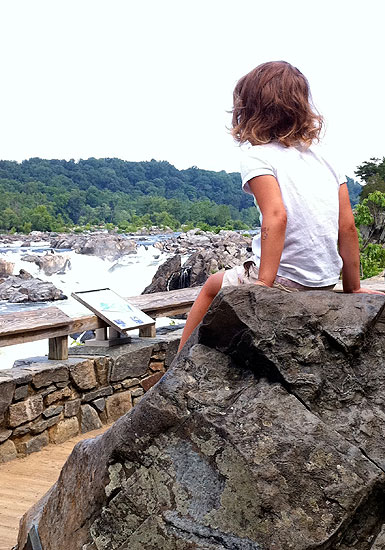 Perched up high to take in the Great Falls vista