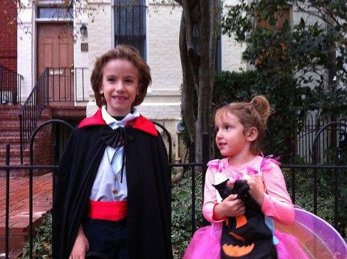 Dracula and Fairy Butterfly Princess on Halloween 2012