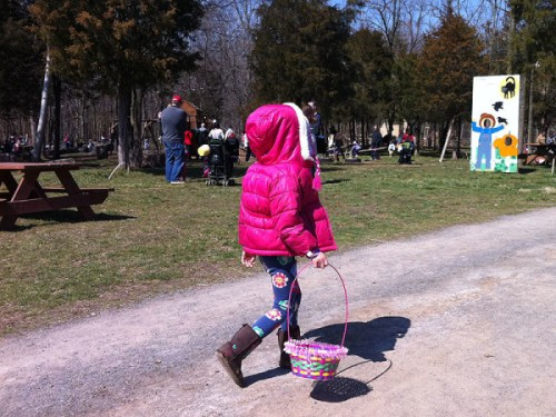 On the hunt for eggs - and fun! - at Ticonderoga Farm