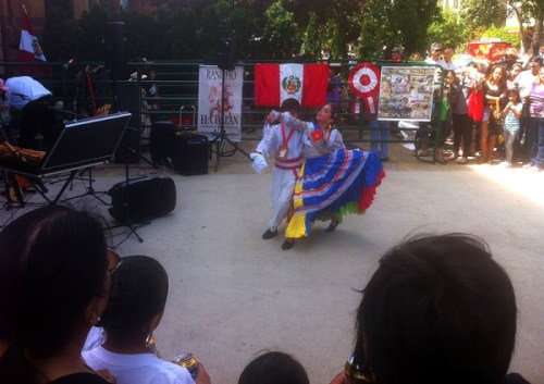 A Peruvian dance performance at last year's Around the World Embassy Tour