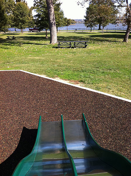 Slide with a view at Hains Point
