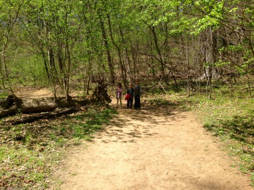 Babes in the woods: On the trail at Riverbend Park