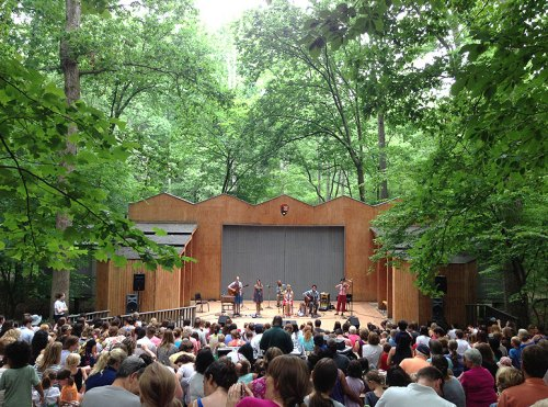 You can't beat the lovely outdoor setting of Wolf Trap's Children's Theatre-in-the-Woods
