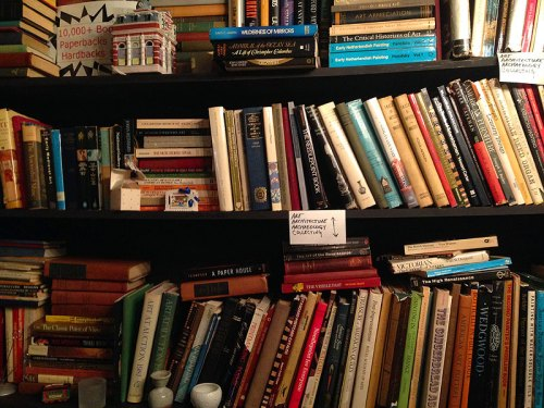 A small sample of the many, many, many books for sale