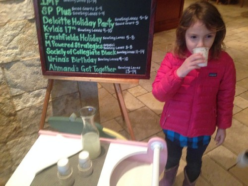 A little lemonade stand welcomes little guests