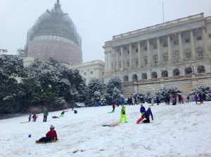 Storming the Capitol sled hill