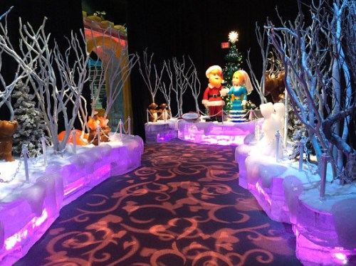 One of the impressive frozen scenes sculpted in ICE!