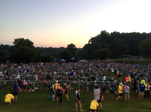 Scene from the swim, bike, run