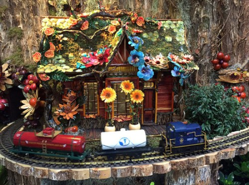 Make a stop at Pollination Station, the model train display at the U.S. Botanic Garden