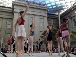 Front row seats ot the ballet