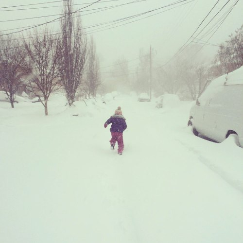 What blizzard? Let's go play! by Gwendolyn Oliphant