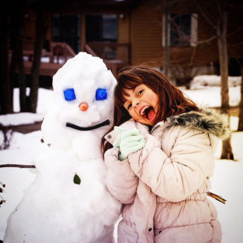 Snowzilla snowman love from Annapolis by Lorianne Moss