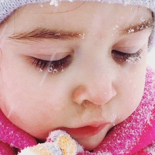 Snowy Eyelashes by Liza Smith