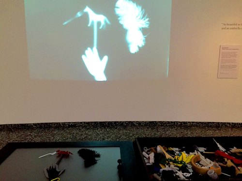 Our surrealist rayograph at the Hirshhorn - stop by to make your own!