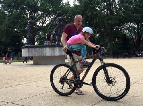 A daddy-daughter bike ride :)