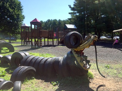 Kids (and adults!) will love the Recycled Tire Playground at Seneca Creek State Park