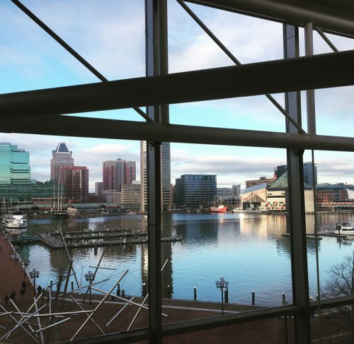 A view of Baltimore Inner Harbor from the Maryland Science Center - lots of fun to be had in Charm City!
