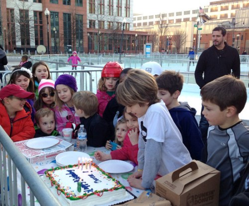 An ice skating party is a super cool way to celebrate a winter birthday