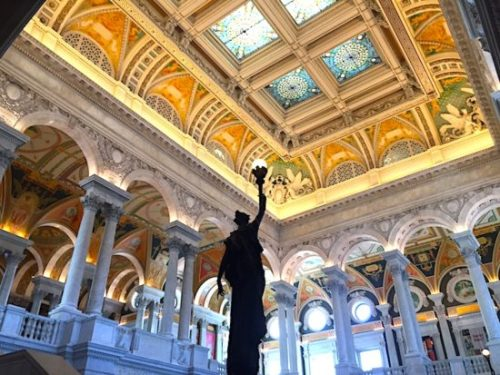 The magnificent Great Hall at the Library of Congress