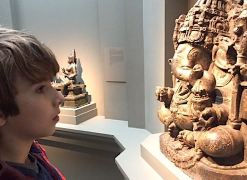 A close look at a Ganesha statue at the Sackler Gallery, where families can enjoy a special art workshop this weekend