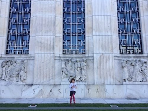 Theatrics at the Folger Shakespeare Library, where there's a special program for kids this weekend