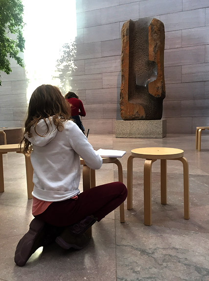 Doing some sketching at the National Gallery of Art
