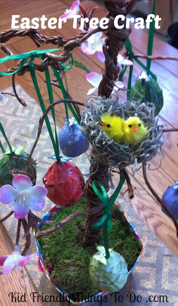 Make a rustic Easter Tree for a decoration that will hold all of your Easter Eggs
