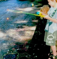 A fun thing to do with kids, Fishing with kids, A fun thing to do with kids in Connecticut, Chalk idea