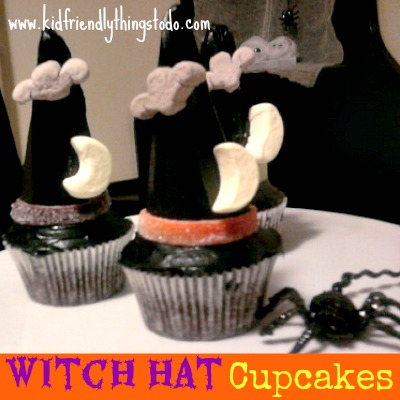 Make Witch Hat Cupcakes From Ice Cream Cones!