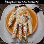 Make A Spooky Skeleton Hand To Hold Your Snack Mix!