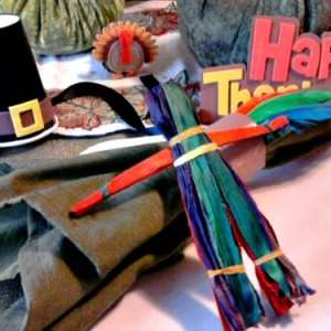 making corn husk dolls