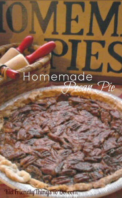 Mom's old recipe forOh So Good, homemade pecan pie. KidFriendlyThingsToDo.com