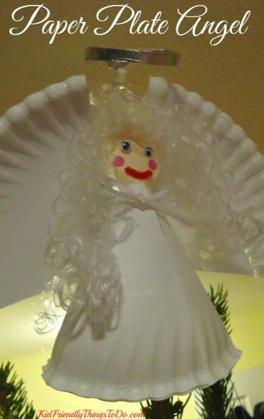 Paper Plate Angel topper for the Christmas tree craft - KidFriendlyThingsToDo.com